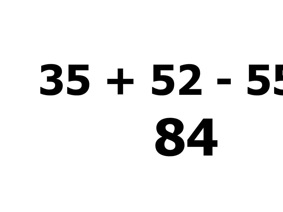 22 + 52 - 54 + 25 45