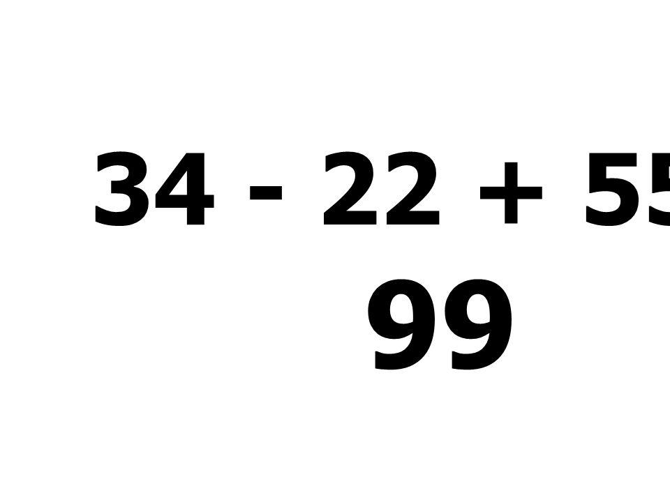 35 + 52 - 55 + 52 = 84
