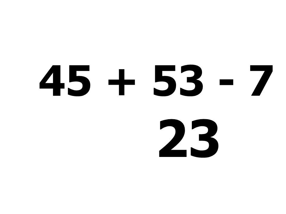 15 + 33 + 51 - 54 = 45