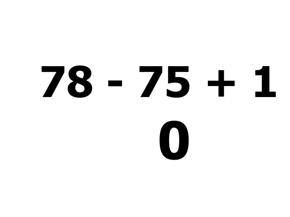 14 + 75 - 8 + 6 = 87