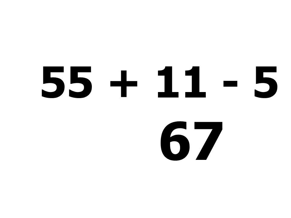 24 + 15 + 50 - 55 = 34