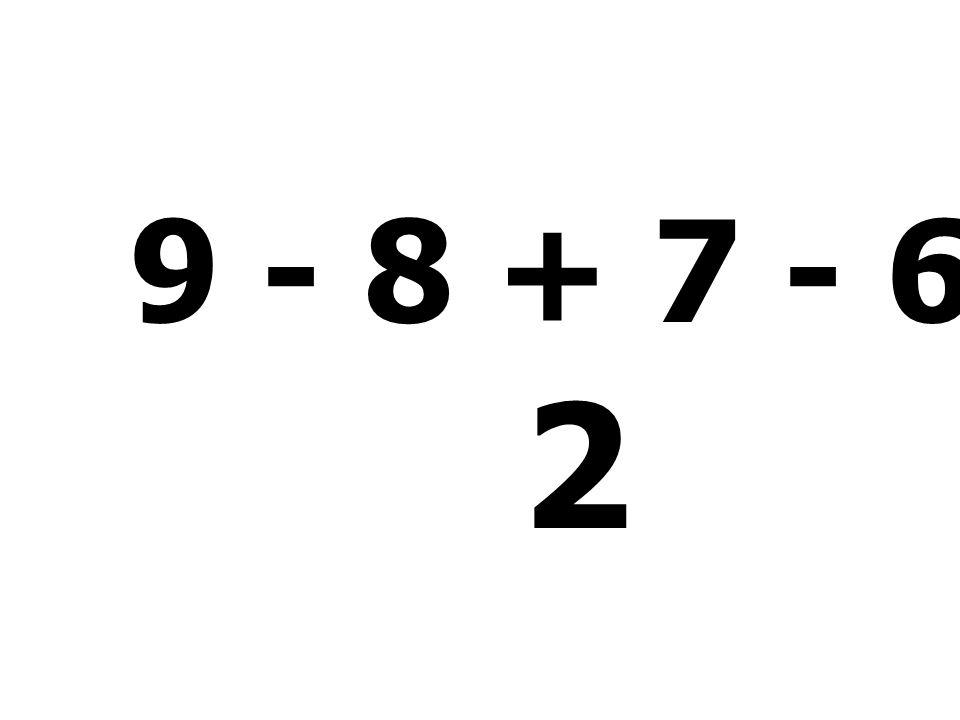 2 + 2 + 5 - 3 = 6