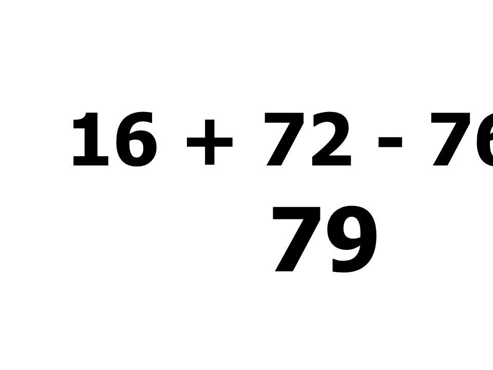 98 - 87 + 16 - 15 = 12