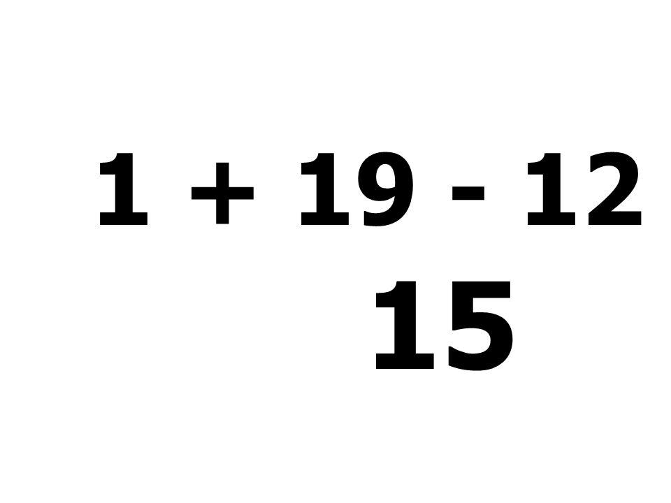 37 - 8 + 11 - 13 = 27