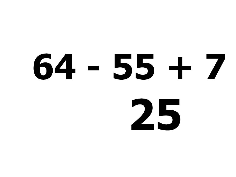 82 - 63 + 2 - 14 = 7
