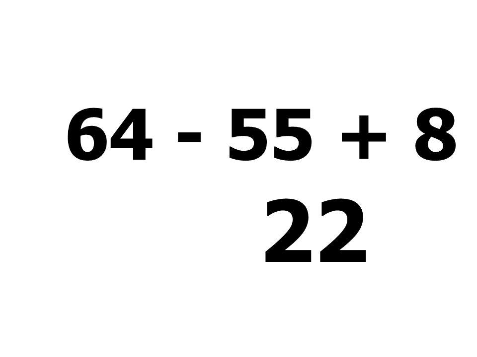 32 - 18 + 7 + 53 = 74
