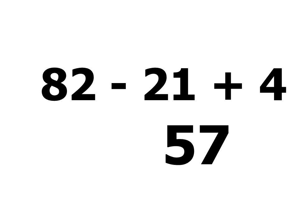 64 - 55 + 8 + 5 = 22