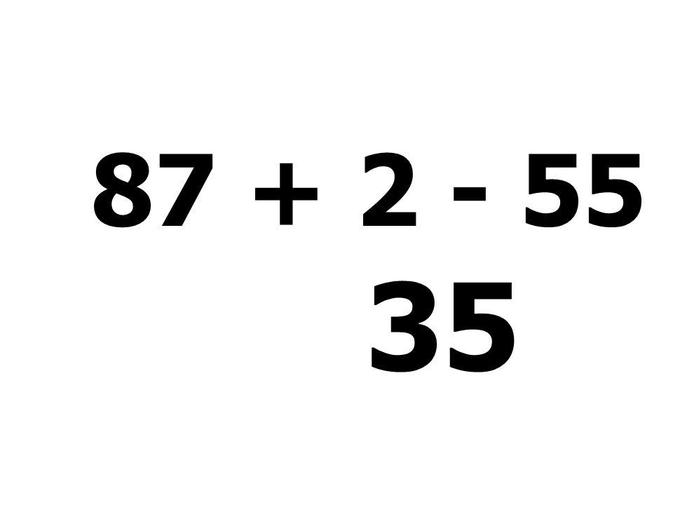 37 + 5 + 2 + 11 = 55