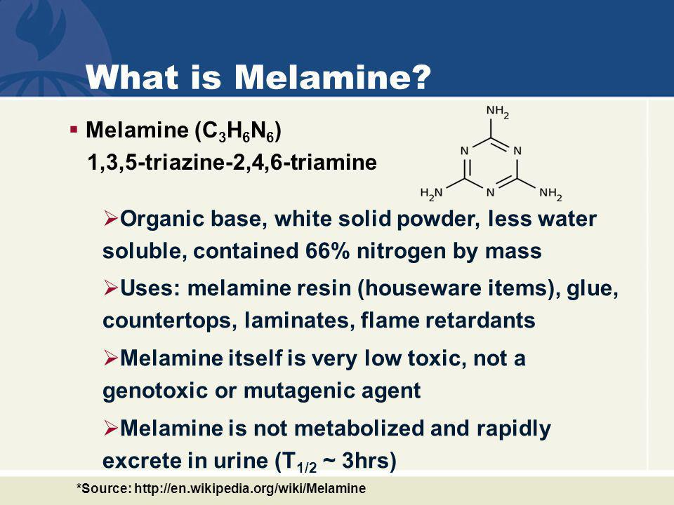 What else is related to Melamine incidents.