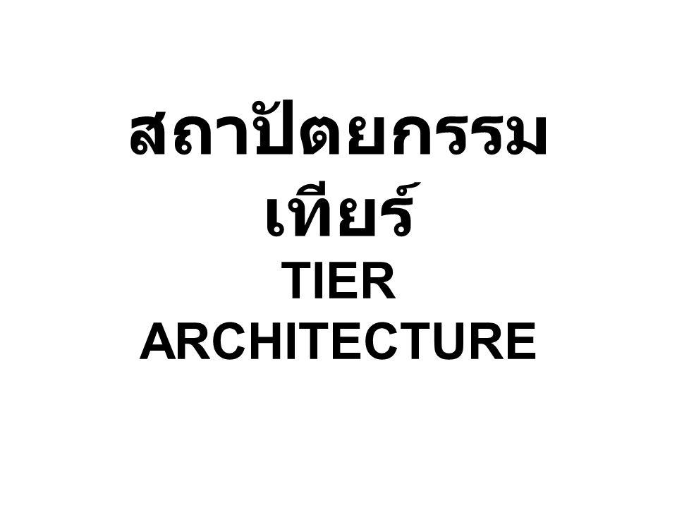 สถาปัตยกรรม เทียร์ TIER ARCHITECTURE
