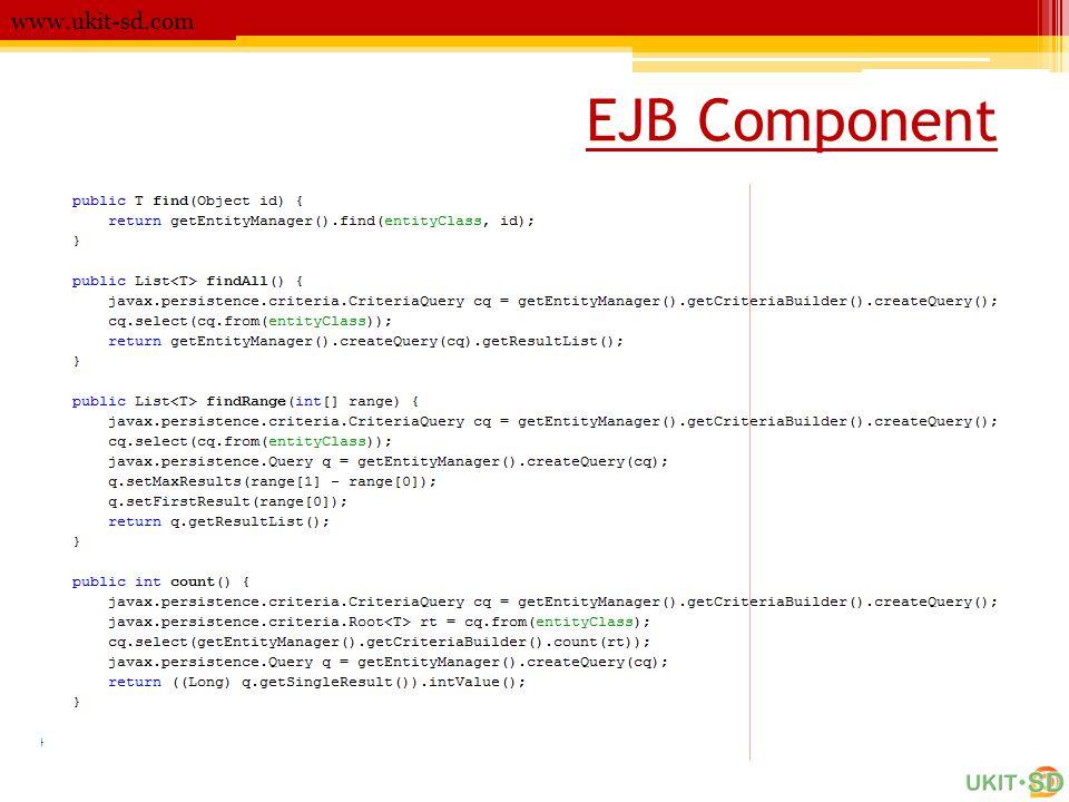 EJB Component www.ukit-sd.com