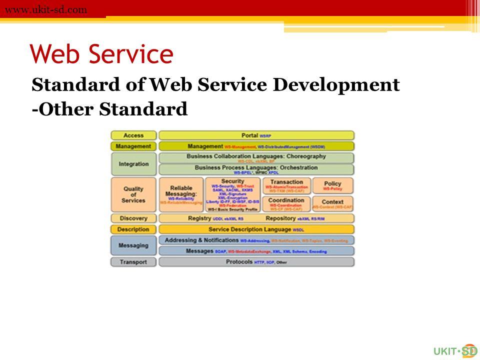 Web Service www.ukit-sd.com Standard of Web Service Development -Other Standard