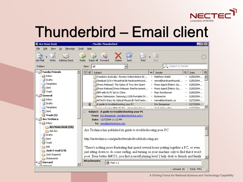 Thunderbird – Email client