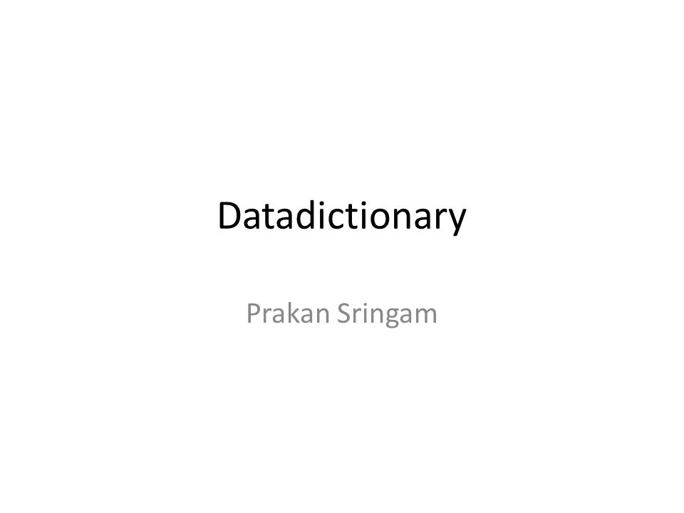 การทำพจนานุกรมข้อมูล • ในการออกแบบสร้างตารางเพื่อให้ เก็บข้อมูลได้จำนวนมากนั้น ผู้ออกแบบต้อง วิเคราะห์จากเอกสาร หรือสอบถามความ ต้องการจากผู้ใช้ เมื่อได้ข้อมูลเหล่านั้นแล้ว จึงนำมาออกแบบข้อมูลให้อยู่ในรูปแบบ ตาราง ต่อจากนั้นสร้างเป็นพจนานุกรม ข้อมูล ก่อนที่จะที่จะลงมือสร้างฐานข้อมูลใน เครื่องคอมพิวเตอร์ พจนานุกรมข้อมูลสร้าง ขึ้นเพื่ออธิบายรายละเอียดของข้อมูลในแต่ ละตาราง เพื่อเป็นสื่อให้ผู้ออกแบบ ฐานข้อมูลและผู้พัฒนาระบบฐานข้อมูลได้ เข้าใจตรงกัน สร้างฐานข้อมูลได้ถูกต้อง ตามผู้ออกแบบ