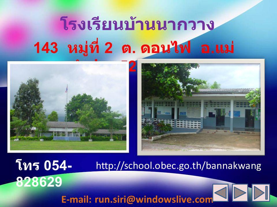 โรงเรียนบ้านนากวาง 143 หมู่ที่ 2 ต.ดอนไฟ อ. แม่ ทะ จ.