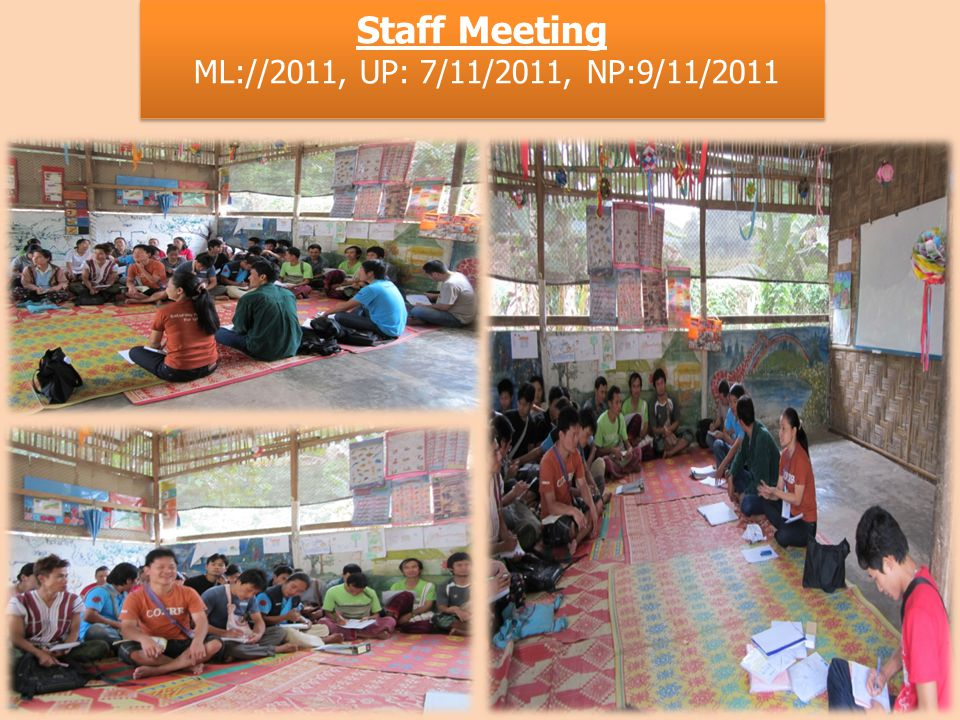 Staff Meeting ML://2011, UP: 7/11/2011, NP:9/11/2011