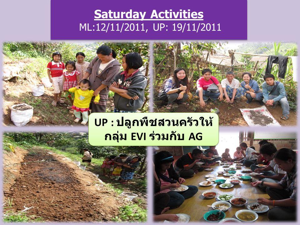 Saturday Activities ML:12/11/2011, UP: 19/11/2011 UP : ปลูกพืชสวนครัวให้ กลุ่ม EVI ร่วมกับ AG
