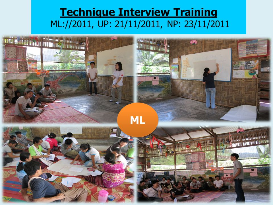 Technique Interview Training ML://2011, UP: 21/11/2011, NP: 23/11/2011 ML