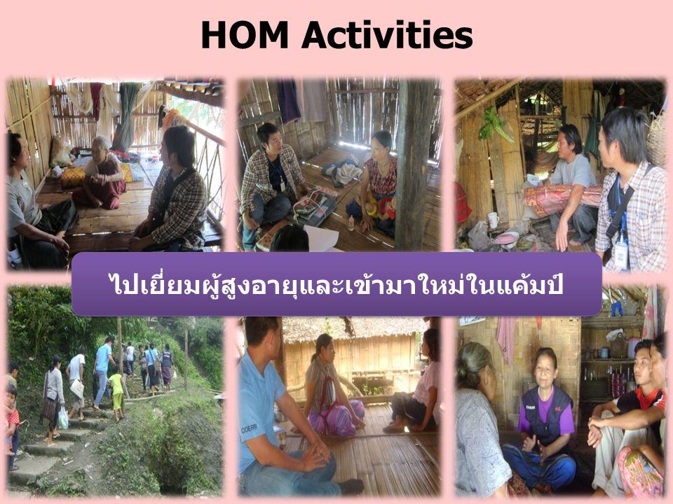 HOM Activities ไปเยี่ยมผู้สูงอายุและเข้ามาใหม่ในแค้มป์