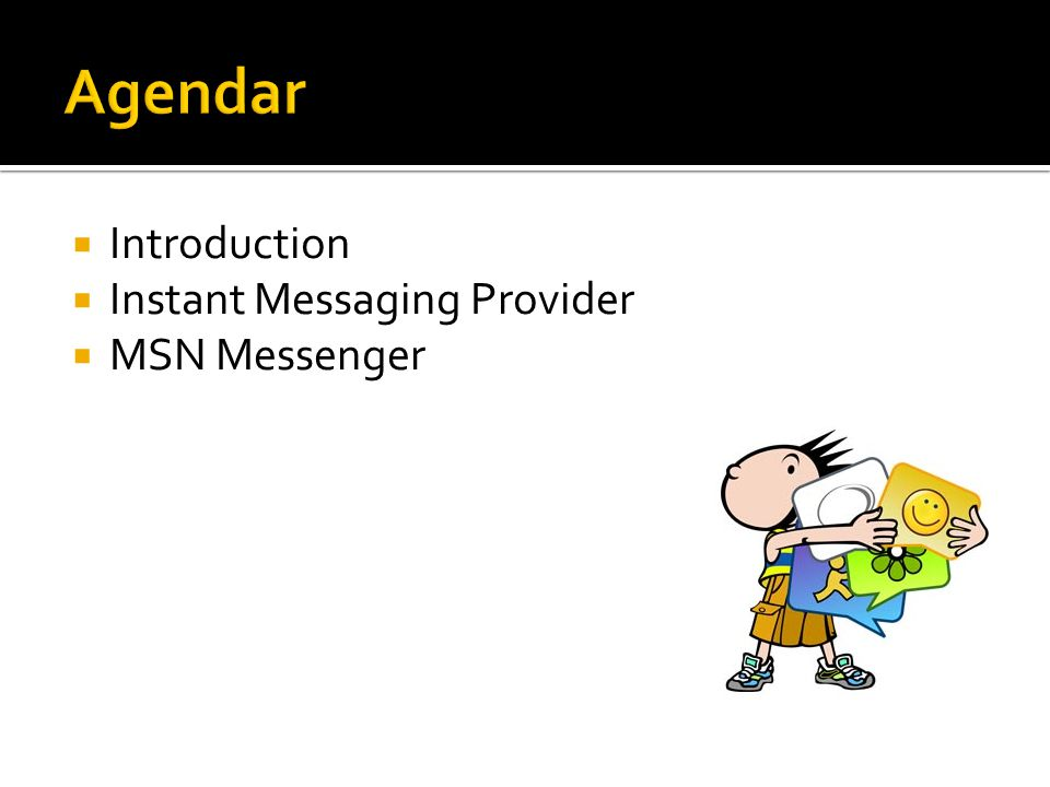  Introduction  Instant Messaging Provider  MSN Messenger