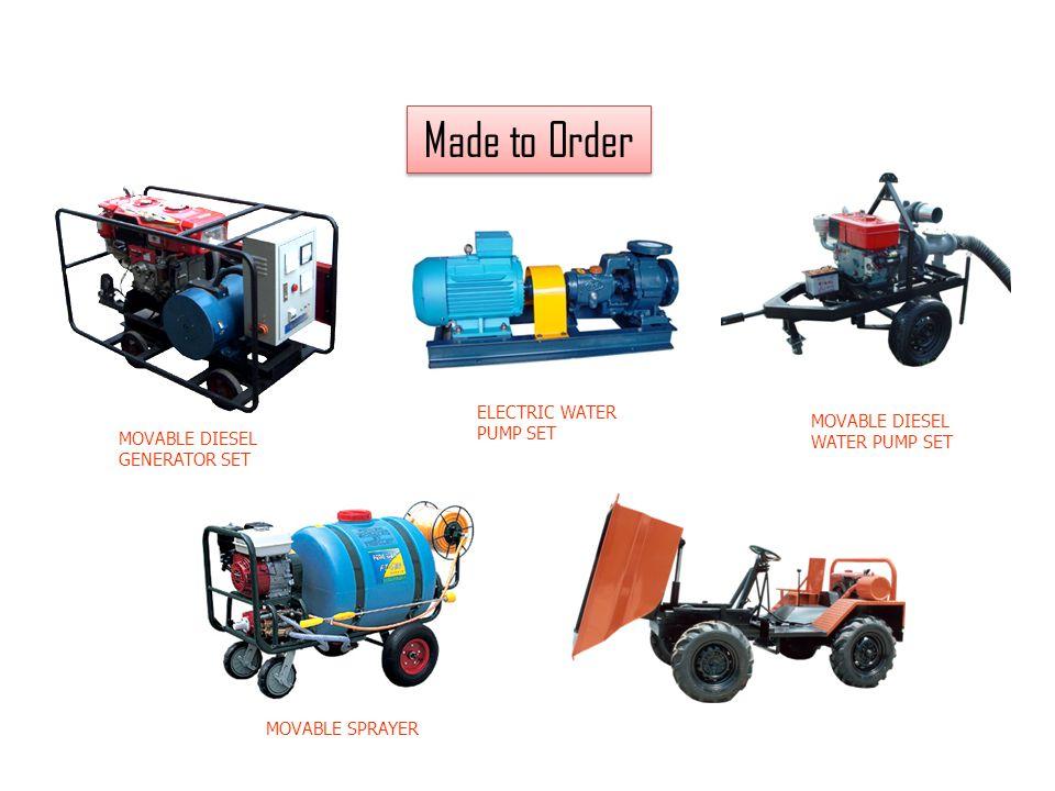Made to Order MOVABLE DIESEL GENERATOR SET MOVABLE DIESEL WATER PUMP SET MOVABLE SPRAYER ELECTRIC WATER PUMP SET