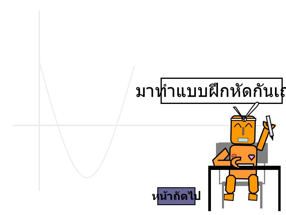 จงวาดกราฟพาราโบลาจากสมการต่อไปนี้ y = 2x 2 - 1 y = -x 2 + 4 จากกราฟต่อไปนี้ จงหาสมการพาราโบลา a.b.