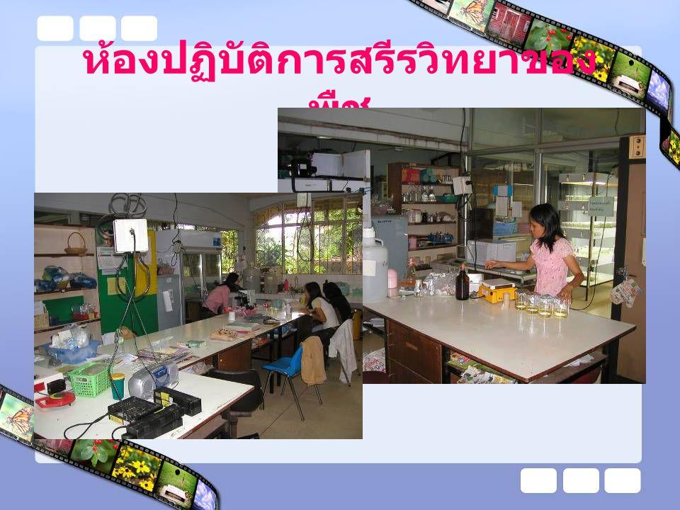 ห้องปฏิบัติการสรีรวิทยาของ พืช