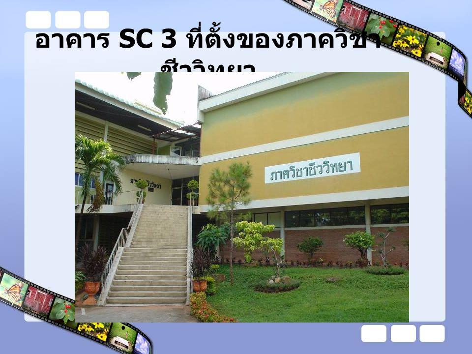 อาคาร SC 3 ที่ตั้งของภาควิชา ชีววิทยา