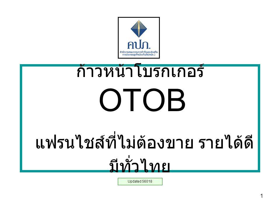 1 ก้าวหน้าโบรกเกอร์ OTOB แฟรนไชส์ที่ไม่ต้องขาย รายได้ดี มีทั่วไทย Updated 56018
