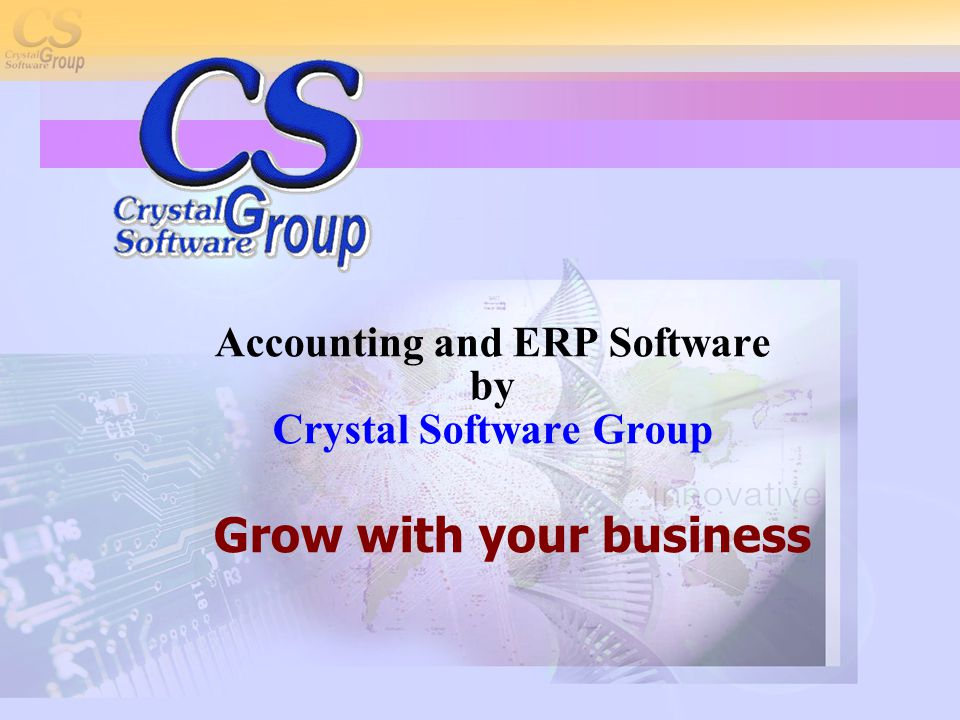 AGENDA  Who is CSG?  M-Commerce  Crystal Online  Accounting Software  Q&A