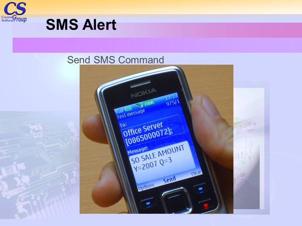 SMS Alert Send SMS Command