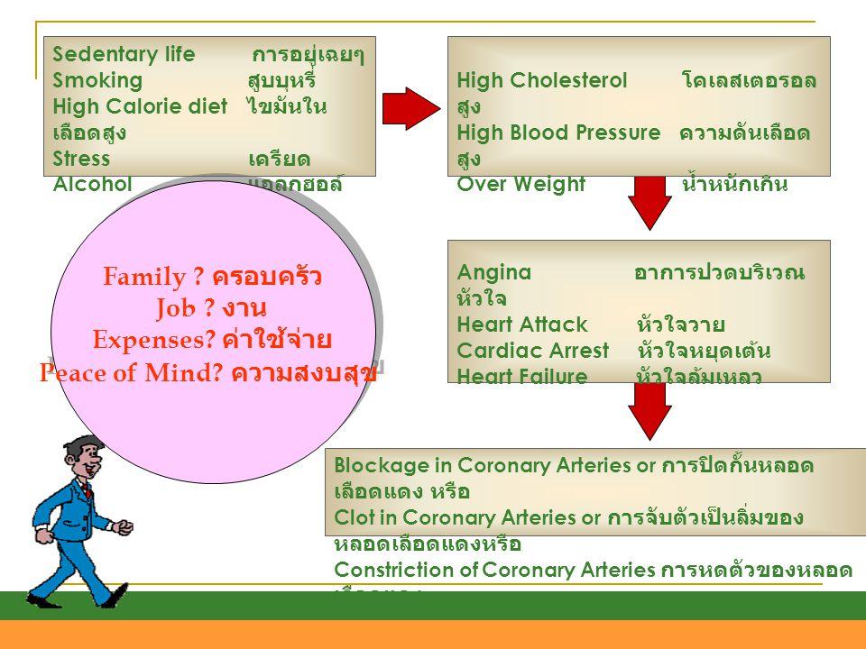 Blockage in Coronary Arteries or การปิดกั้นหลอด เลือดแดง หรือ Clot in Coronary Arteries or การจับตัวเป็นลิ่มของ หลอดเลือดแดงหรือ Constriction of Coron