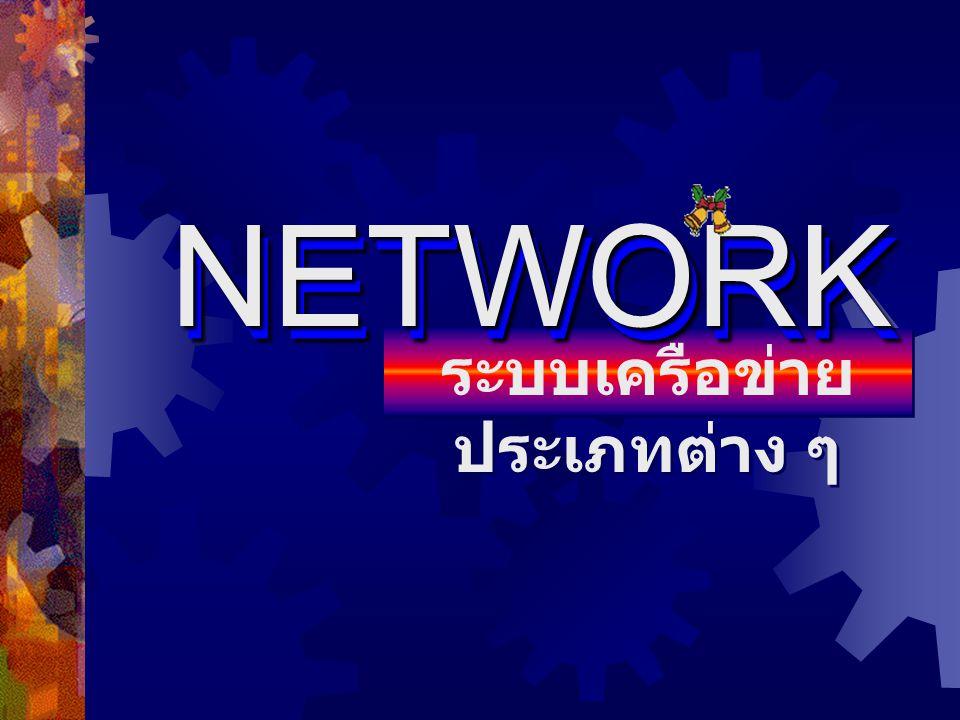 ระบบเครือข่าย ประเภทต่าง ๆ NETWORKNETWORK