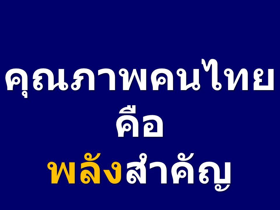 คุณภาพคนไทย คือ พลังสำคัญ
