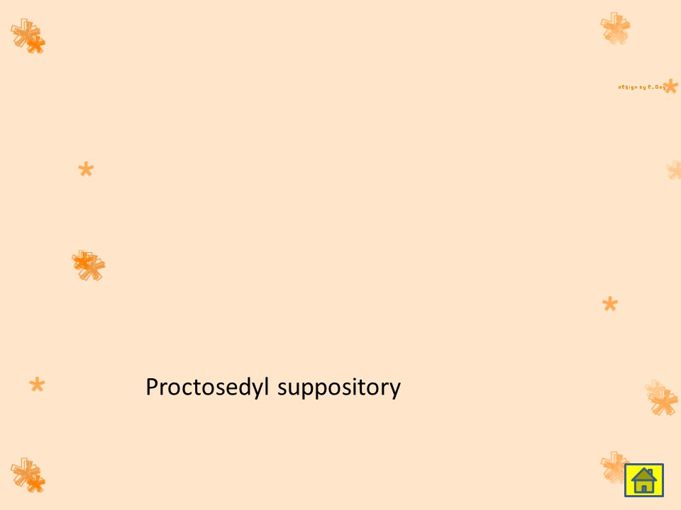 Proctosedyl suppository