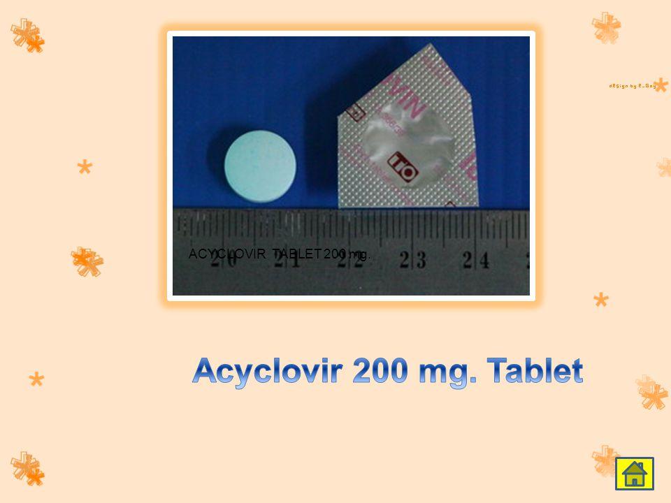 ACYCLOVIR TABLET 200 mg.