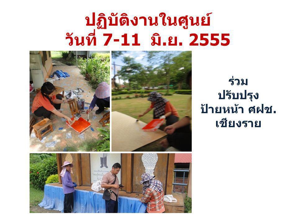 ร่วมจัดสถานที่ ปฐมนิเทศ นักศึกษา ปวช. 13 มิถุนายน 2555