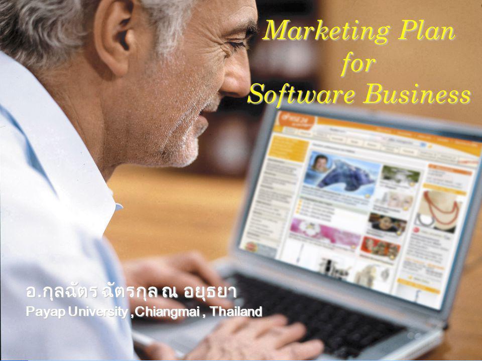 Company LOGO อ.กุลฉัตร ฉัตรกุล ณ อยุธยา Payap University,Chiangmai, Thailand Marketing Plan for Software Business
