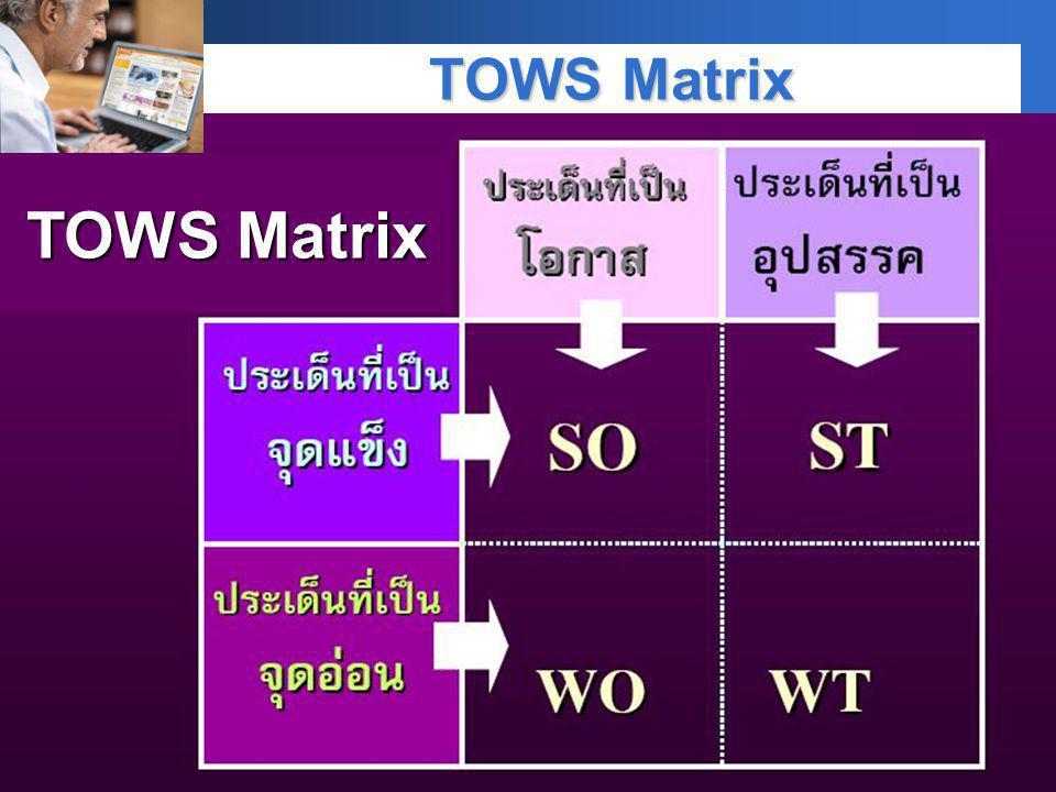 Company LOGO TOWS Matrix