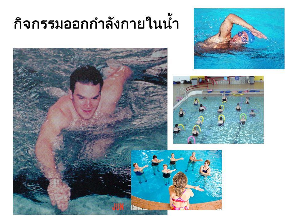 กิจกรรมออกกำลังกายในน้ำ