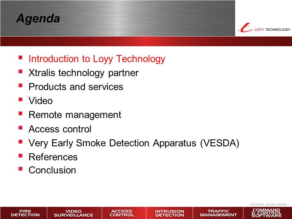 Introduction to Loyy Technology เป็นบริษัทที่จำหน่ายและให้บริการศูนย์ รักษาความปลอดภัยตลอด 24 ชั่วโมง ด้วยอุปกรณ์อิเล็กทรอนิกส์ที่มีเทคโนโลยี ทันสมัยครบวงจรและอุปกรณ์รักษาความ ปลอดภัยที่ Hi-tech คุณภาพดี มี ประสิทธิภาพการทำงานสูง ในราคา ยุติธรรมพร้อมบริการหลังการขายที่ดีกับ หน่วยงานราชการทั่วประเทศไทย