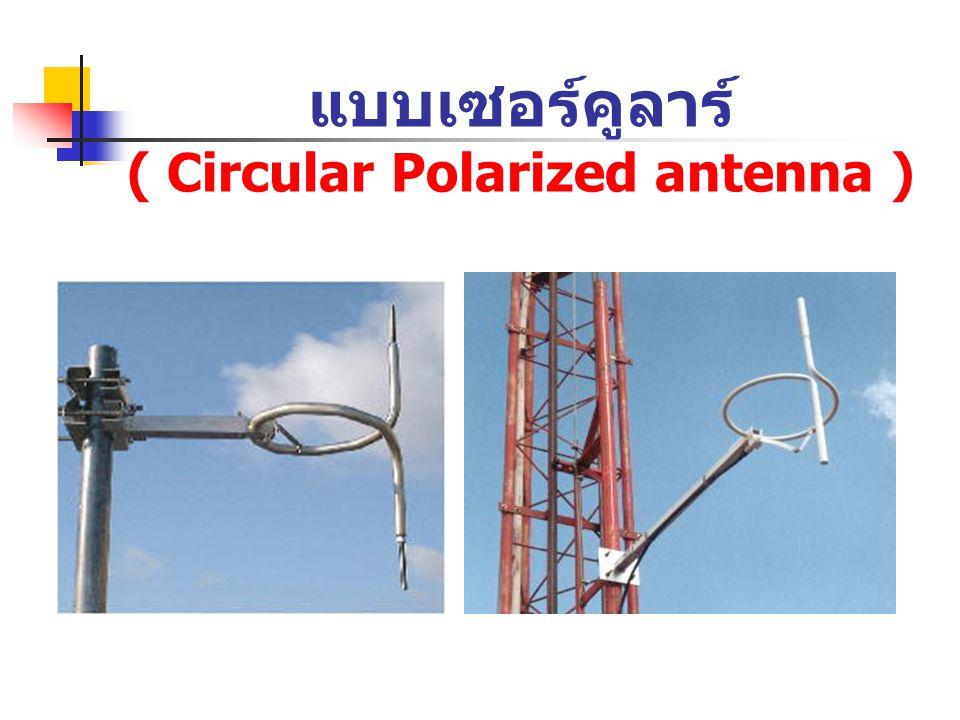 แบบเซอร์คูลาร์ ( Circular Polarized antenna )