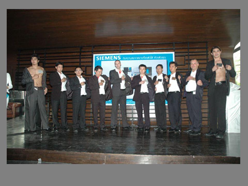 ภาพพิธีการแต่งตั้งตัวแทนจำหน่ายอย่าง เป็นทางการระหว่าง Mr.Beckers จากบริษัท Siemens ประเทศไทย จำกัดและ คุณวรเทพ จาก บริษัท แสงชัย แอร์ ควอลิตี้ จำกัด