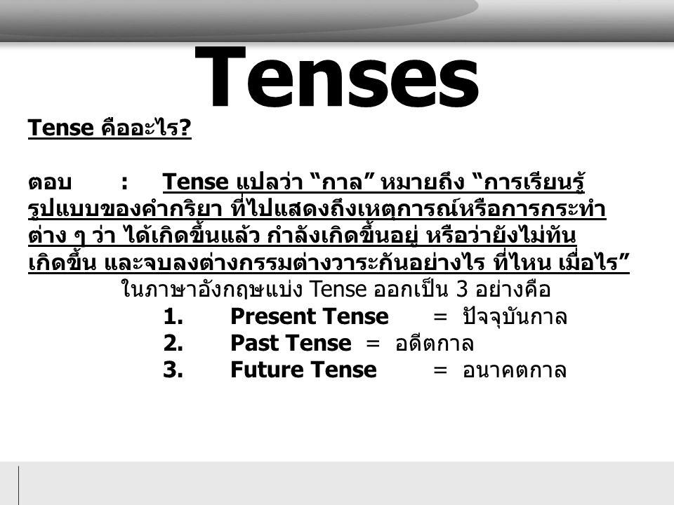 Tense คืออะไร .