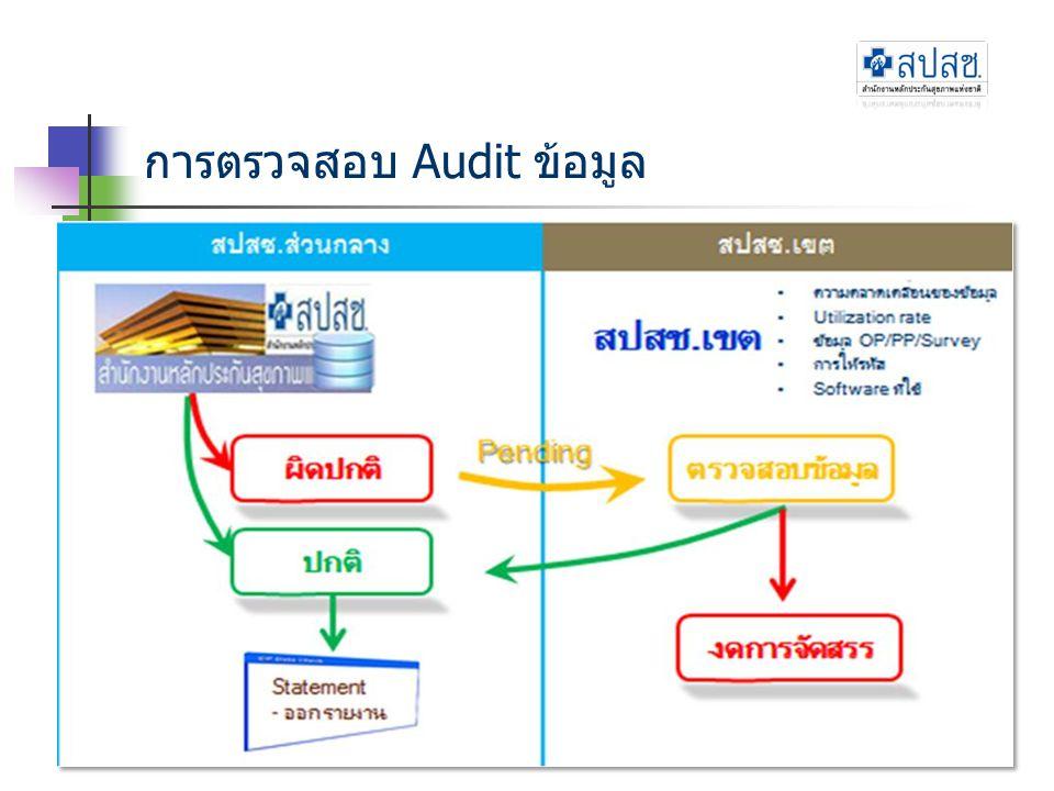 การตรวจสอบ Audit ข้อมูล