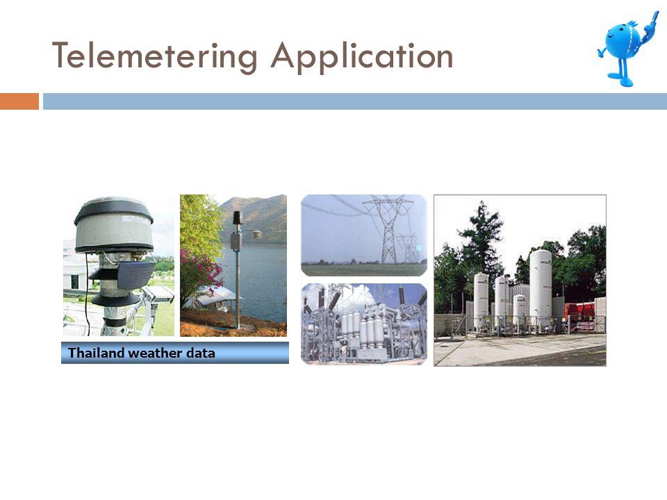 Thailand weather data Telemetering Application
