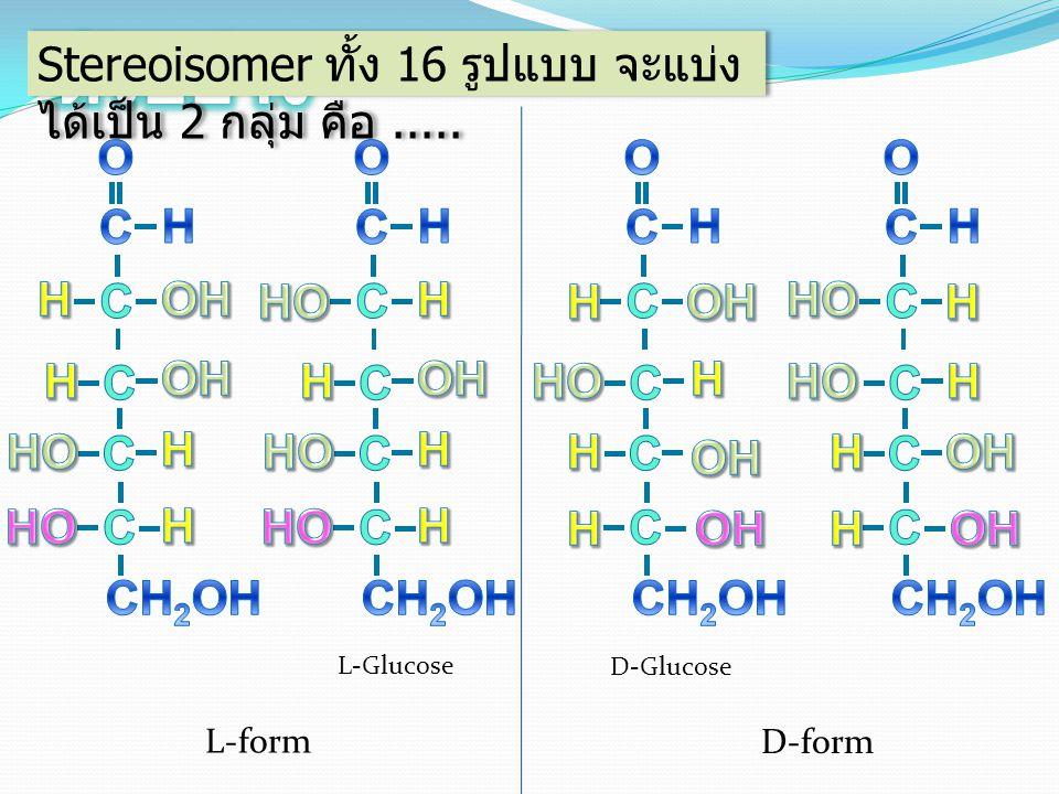 GlucoseMannose D-formL-form GlucoseMannose