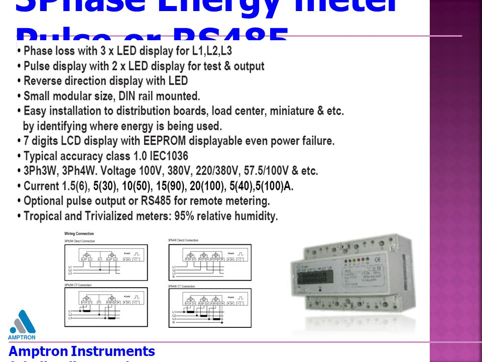 3Phase Energy meter Pulse or RS485