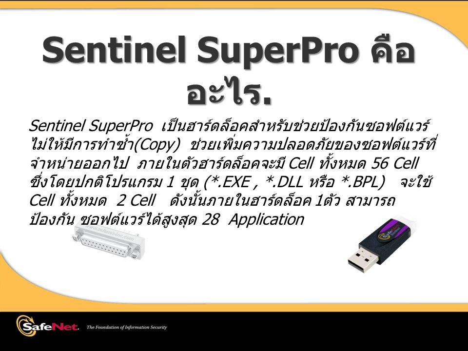 Sentinel SuperPro คือ อะไร.