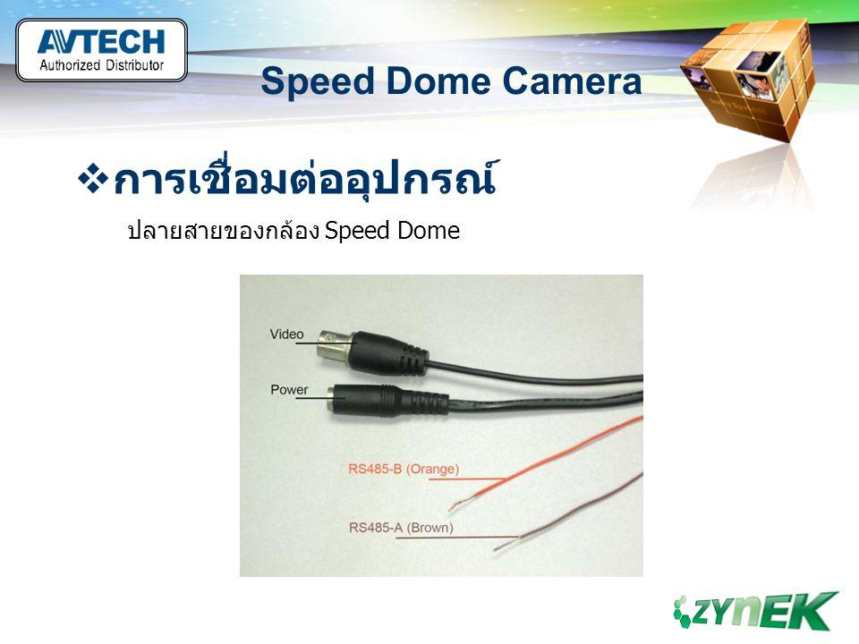 LOGO www.themegallery.com Speed Dome Camera  การเชื่อมต่ออุปกรณ์ ปลายสายของกล้อง Speed Dome